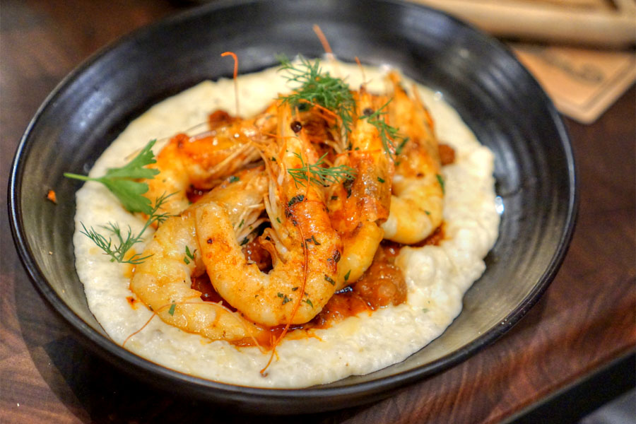 Farmed Ecuadorian Shrimp and Grits
