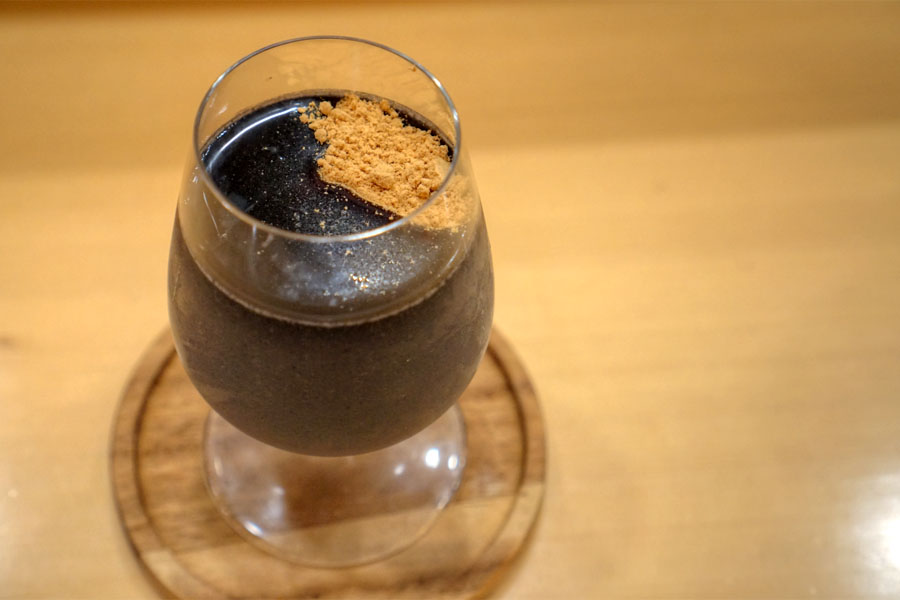 Black Sesame Seed Flan