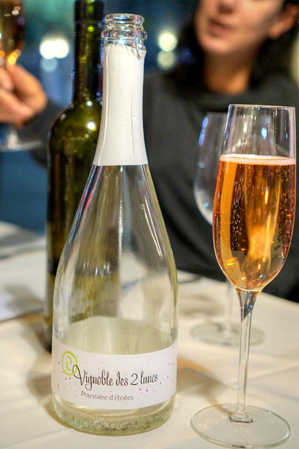 Cremant d'Alsace Rosé, Vignoble des 2 Lunes 2012, Alsace, France