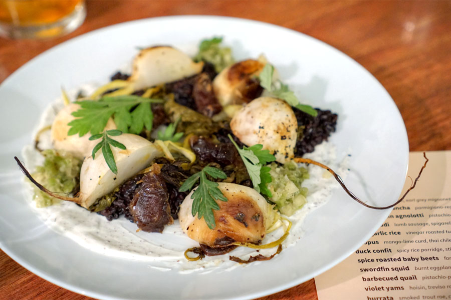 black garlic rice