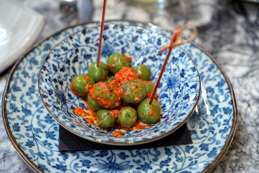 kimchi of castelvetrano olives