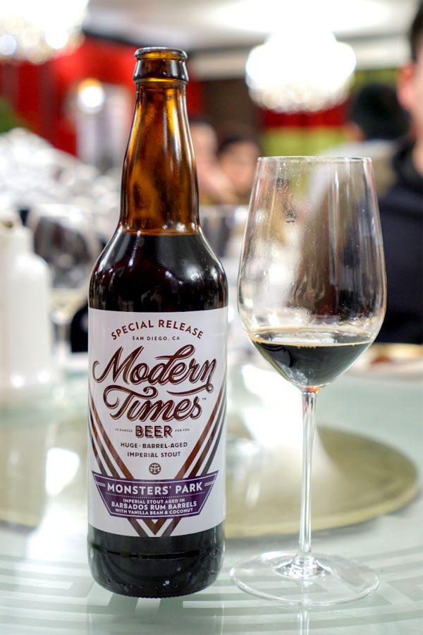 2016 Modern Times Monsters' Park aged in Barbados Rum Barrels with Vanilla Beans & Coconut
