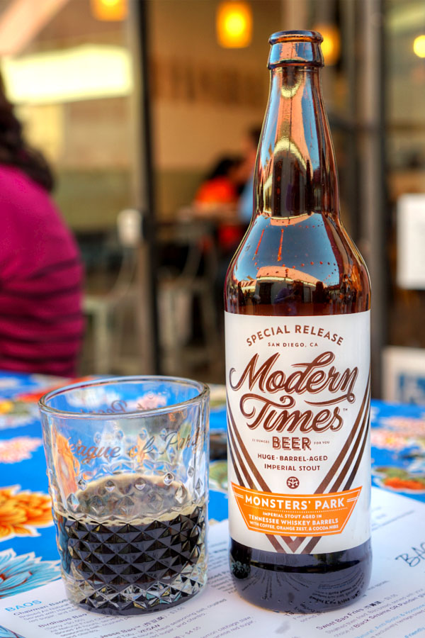 2016 Modern Times Monsters' Park aged in Tennessee Whiskey Barrels with Coffee, Orange Zest & Cocoa Nibs