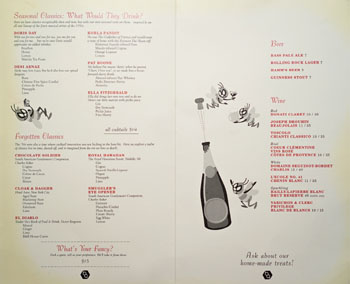 Birds & Bees Menu