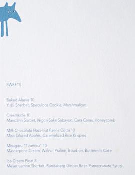Wolfdown Dessert Menu