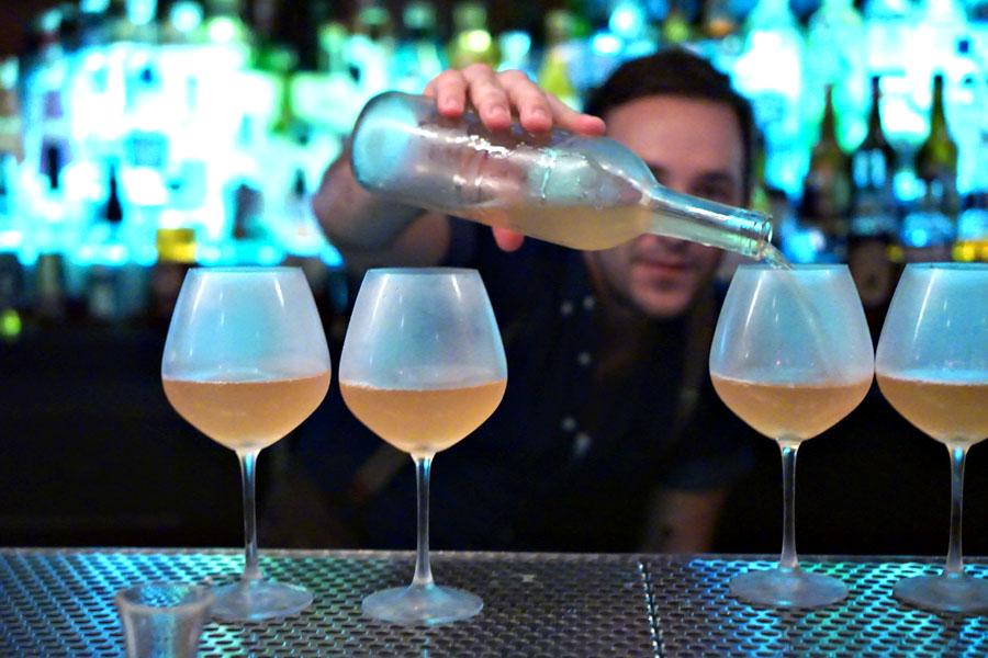 Pouring the 'Orange Wine'