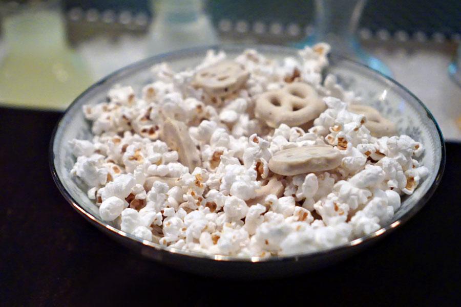 Yogurt-Covered Pretzels with Coconut Oil-Sea Salt Popcorn