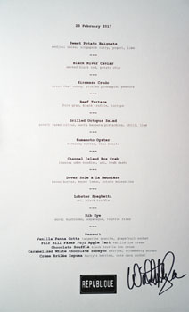 Republique Tasting Menu