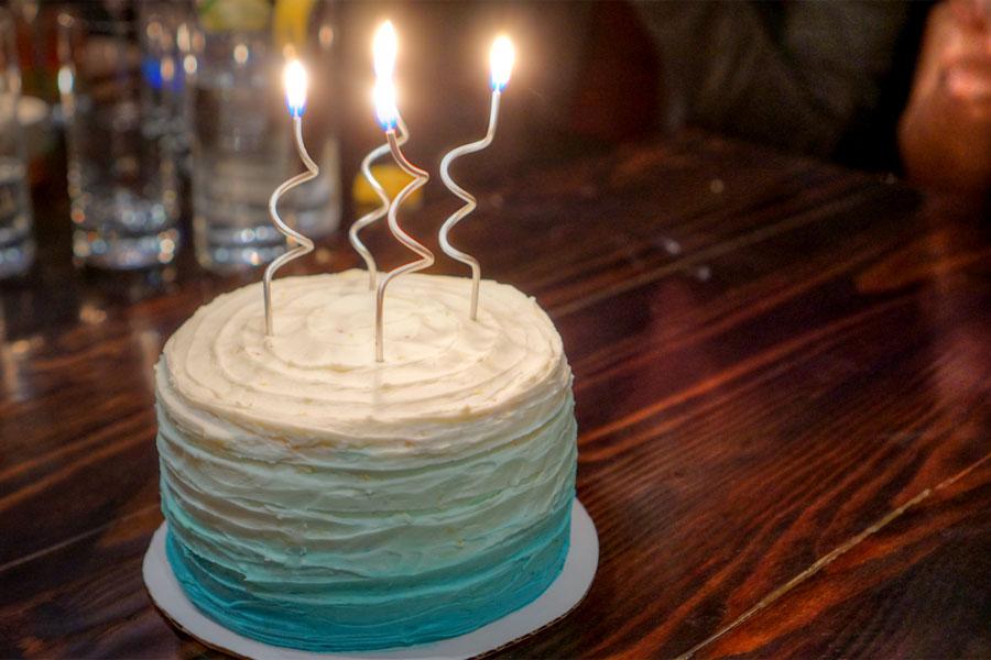 Earl Grey-Blueberry-Lemon Cake