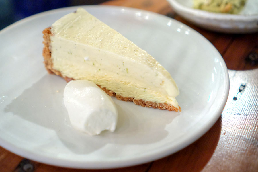 Lime ice box pie, graham cracker crust