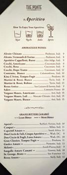 The Ponte Aperitivo List