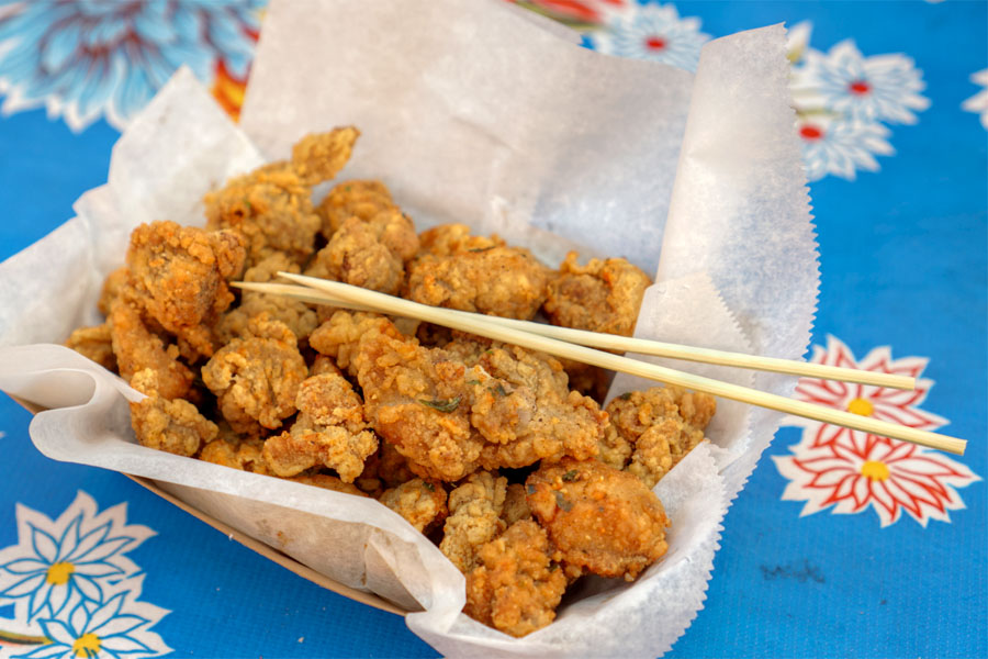 Twice Fried Popcorn Chicken