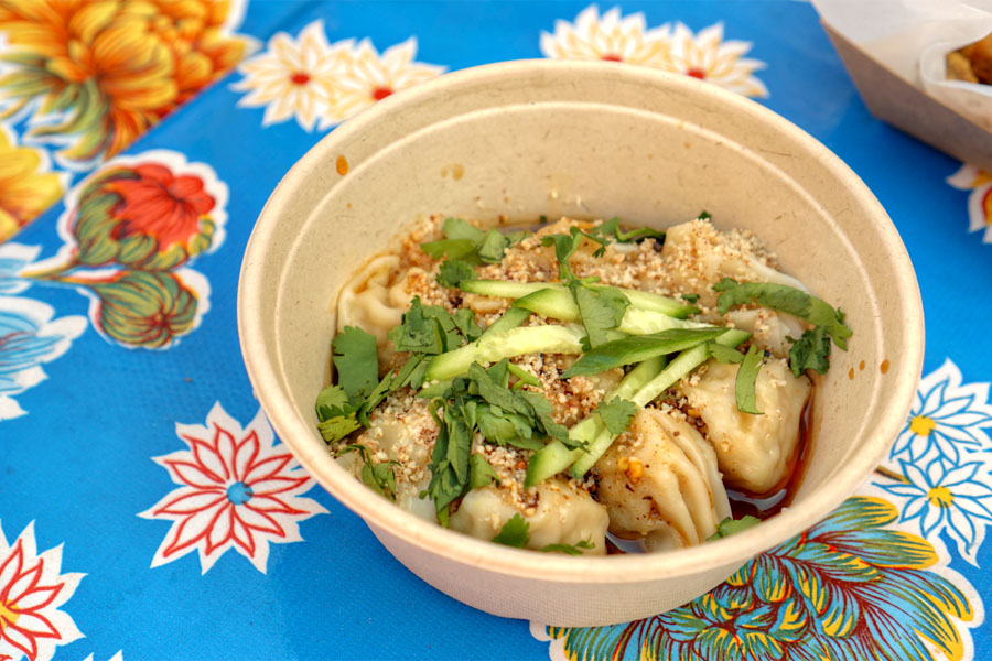 Chao Shou (pork wontons in red hot numbing chili oil)