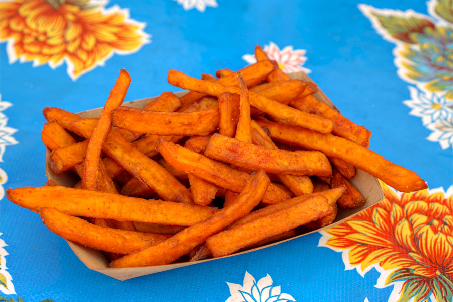 Plum Sweet Potato Fries