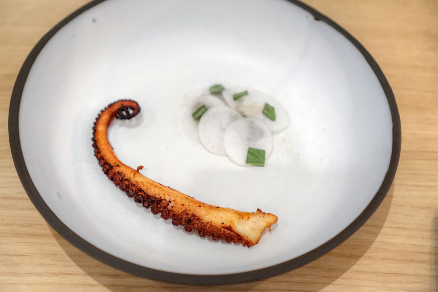 Octopus, Chili, Basil