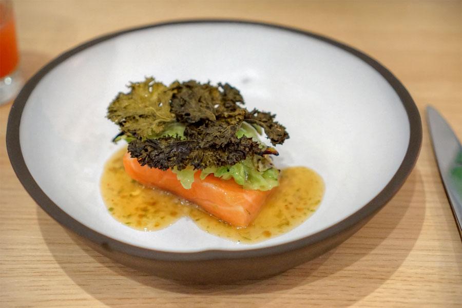 Trout, Cabbage, Eggplant