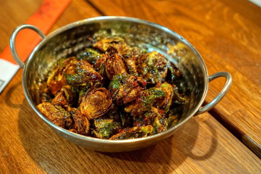 Szechuan Spicy Brussel Sprouts