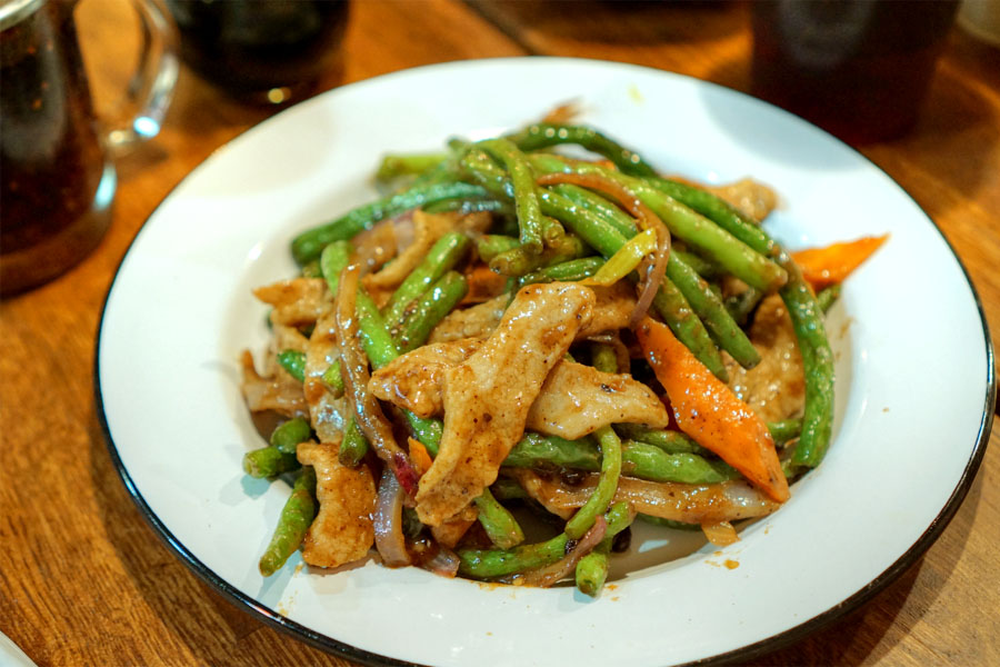 Pork Jowl String Beans with Black Bean Sauce