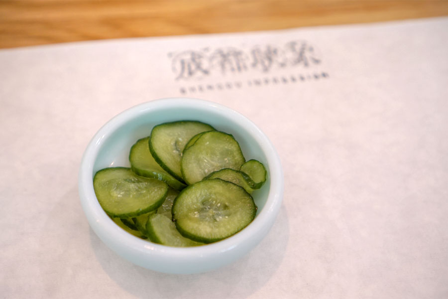 Two Side Dishes - Marinated Cucumber