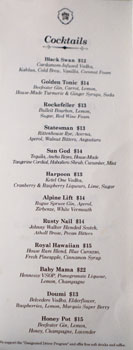 Mama Lion Cocktail List