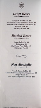 Mama Lion Beer List