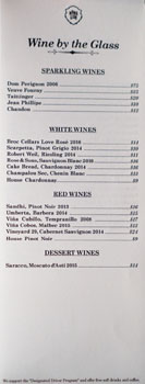 Mama Lion Wines by the Glass List