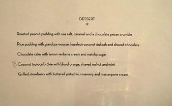 PYT Dessert Menu