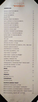 Chianina Steakhouse Liquor List: Whiskey