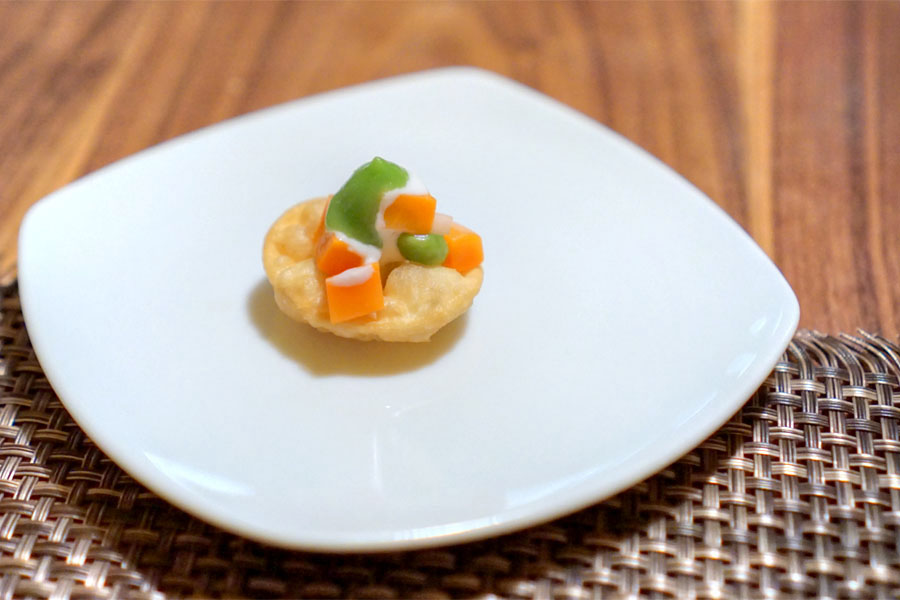 Pea and Carrot Salad en Croute