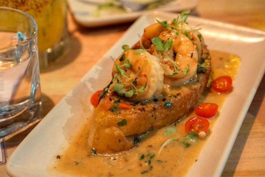 Ajillo Shrimp Toast