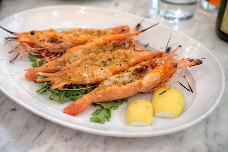 Grilled Santa Barbara Spot Prawns
