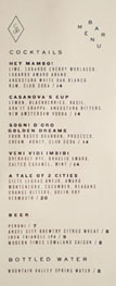 Rossoblu Cocktail & Beer List