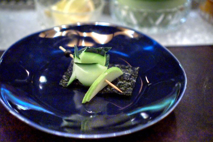 Nori Apple Cucumber Skewer