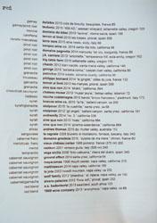 Ink Wine List: Red