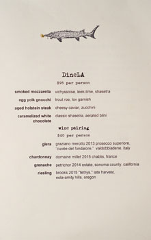 Ink DineLA Menu