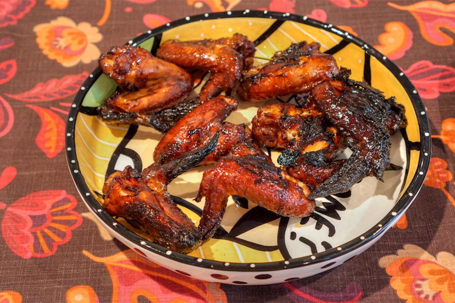 Smoked Chicken Wings with Sweet Baby Ray's Barbecue Sauce
