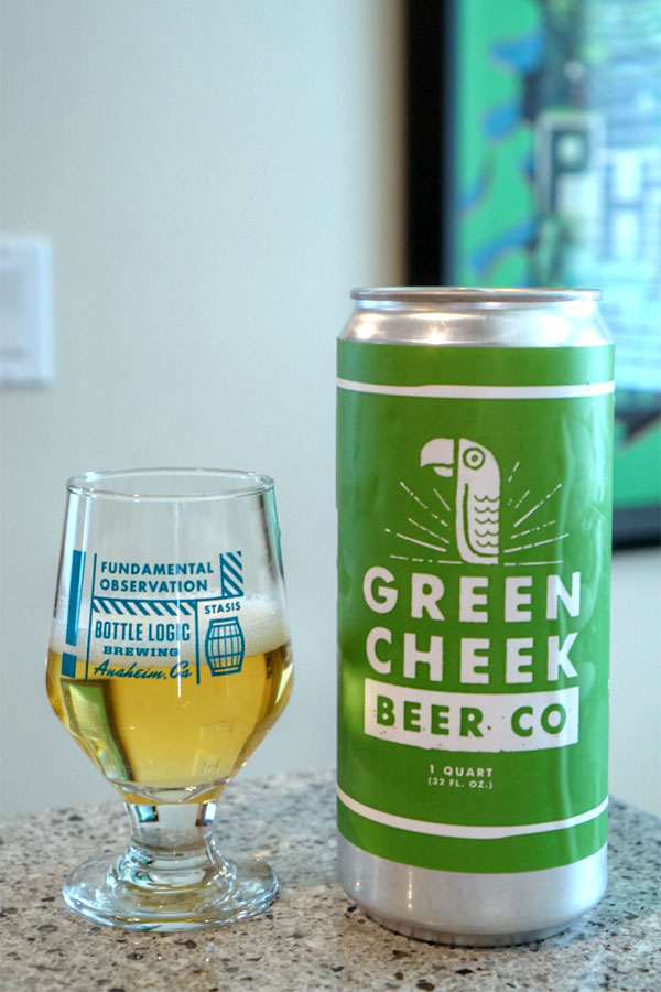 2017 Green Cheek Happy Pilsner