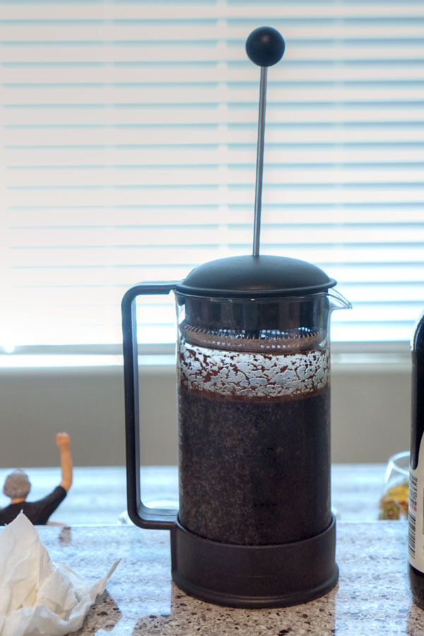 Parabola with French Press Coffee