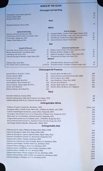 Le Petit Wine List: Wines by the Glass, Champagne & Prosecco, Rosé, Unforgettable White, Unforgettable Red