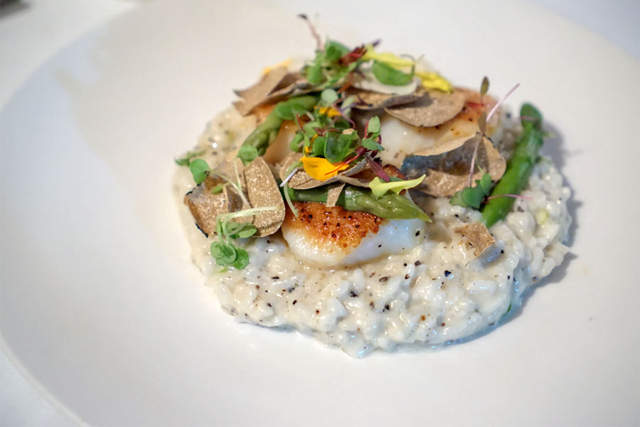 Maine Scallop Risotto and Black Italian Truffle