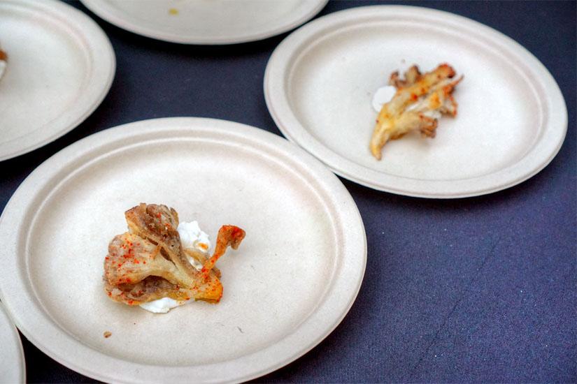 Crisp Maitake Mushroom with Ricotta and Malt Vinegar