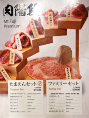 Tamaen Menu: Mt. Fuji Premium Sets
