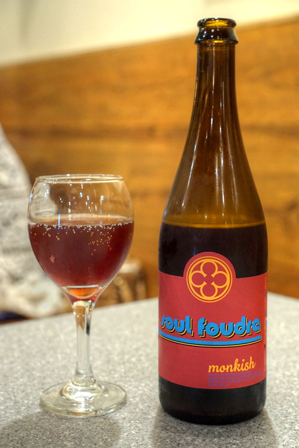 2016 Monkish Soul Foudre with Boysenberries