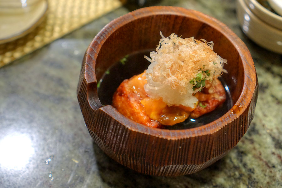 Fried Tomato Tofu in Broth