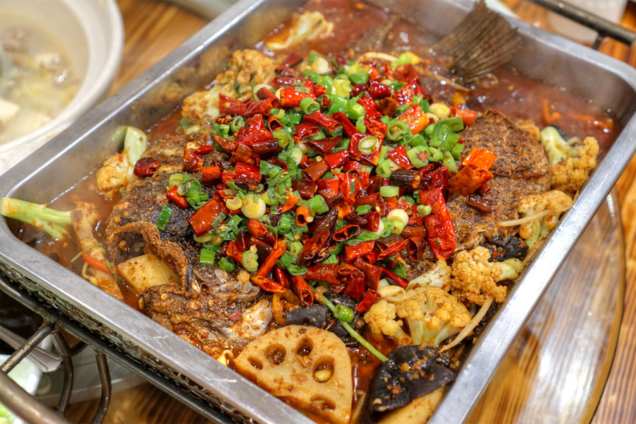 Chengdu Style Spicy Grilled Fish