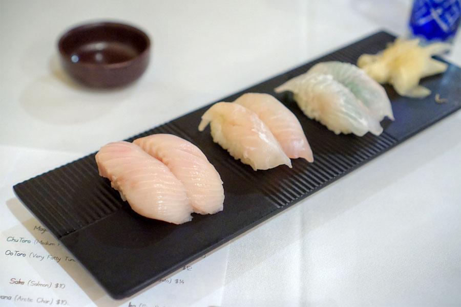 Shiro Sake + Kawahagi + Hirame