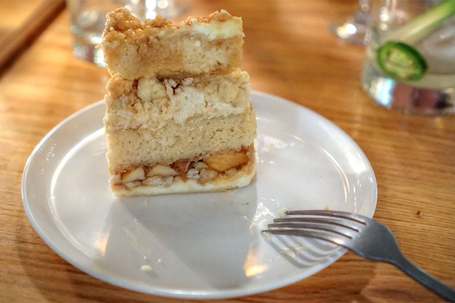 Momofuku Milk Bar Apple Pie Cake (Sliced)