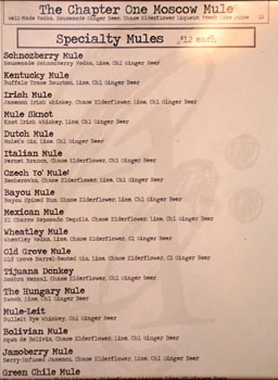 Chapter One Specialty Mules List