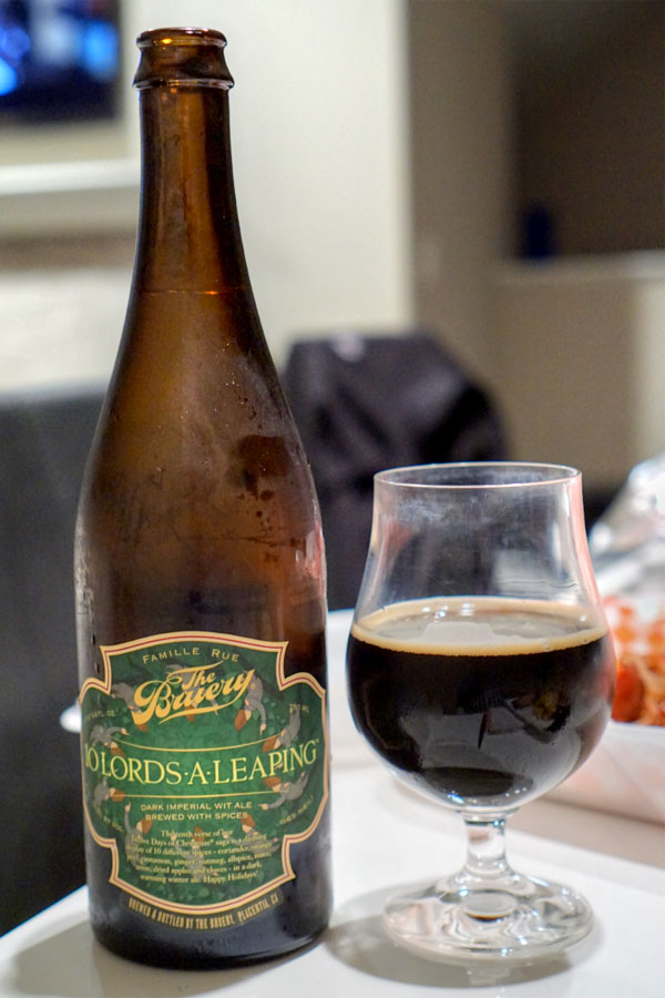 2017 The Bruery 10 Lords-A-Leaping