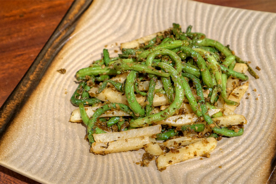 Dry Cooked Green Bean And Potato